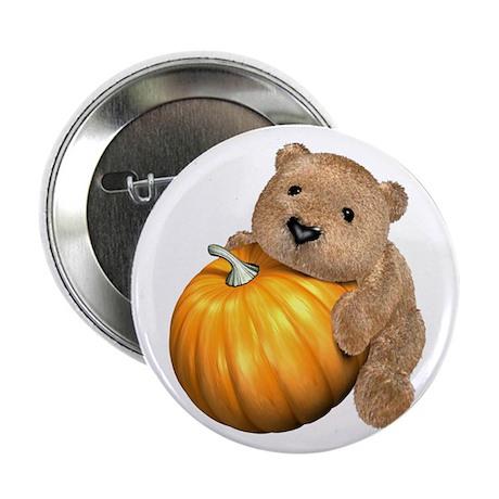 """Halloween Pumpkin Bear 2.25"""" Button"""