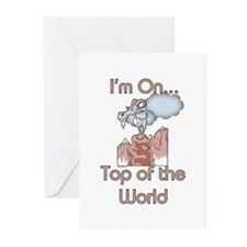 Goat Top of World Greeting Cards (Pk of 20)