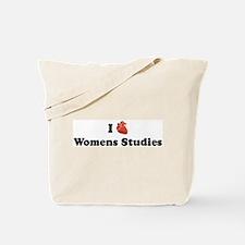 I (Heart) Womens Studies Tote Bag