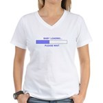 BABY LOADING... Women's V-Neck T-Shirt