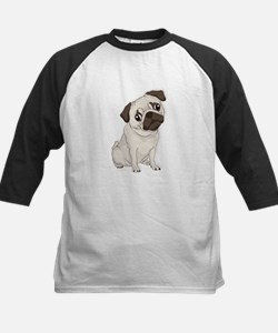 Pug Dog, Cute Little Pug Baseball Jersey