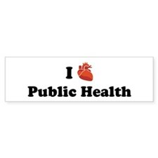 I (Heart) Public Health Bumper Bumper Sticker