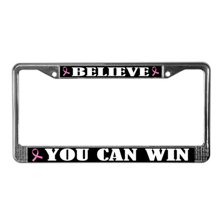 Win Against Breast Cancer License Plate Frame
