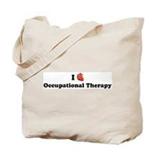 I (Heart) Occupational Therap Tote Bag