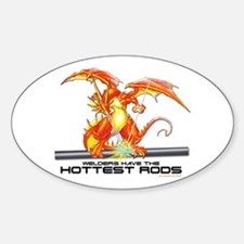 Welding Dragon Oval Decal