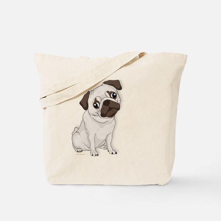 Cute Cute pug Tote Bag