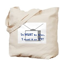 Read It On TV Tote Bag