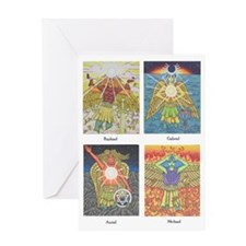 Four Archangels Greeting Card