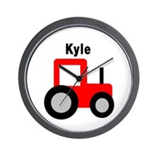 Kyle - Red Tractor Wall Clock
