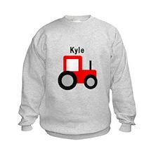 Kyle - Red Tractor Sweatshirt