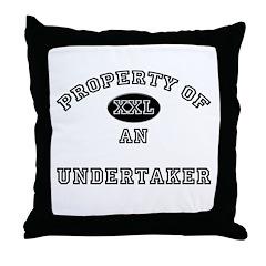 Property of an Undertaker Throw Pillow