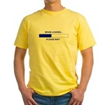 BRAIN LOADING... Yellow T-Shirt