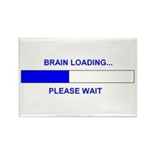 BRAIN LOADING... Rectangle Magnet