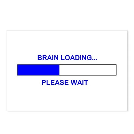 BRAIN LOADING... Postcards (Package of 8)