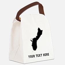Guam Silhouette (Custom) Canvas Lunch Bag