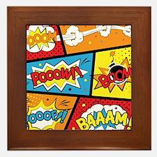 Comic Effects Framed Tile