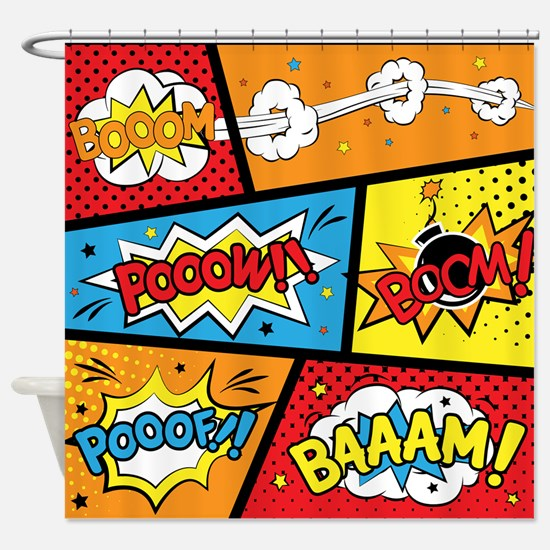 Comic Effects Shower Curtain
