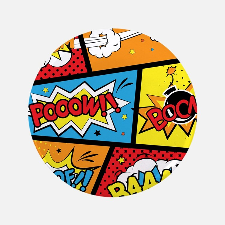 """Comic Effects 3.5"""" Button (100 pack)"""