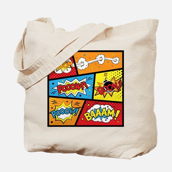 Comic Effects Tote Bag
