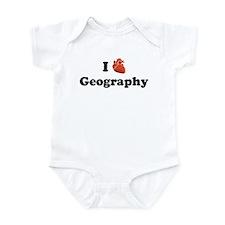 I (Heart) Geography Infant Bodysuit