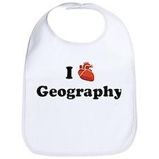 I (Heart) Geography Bib