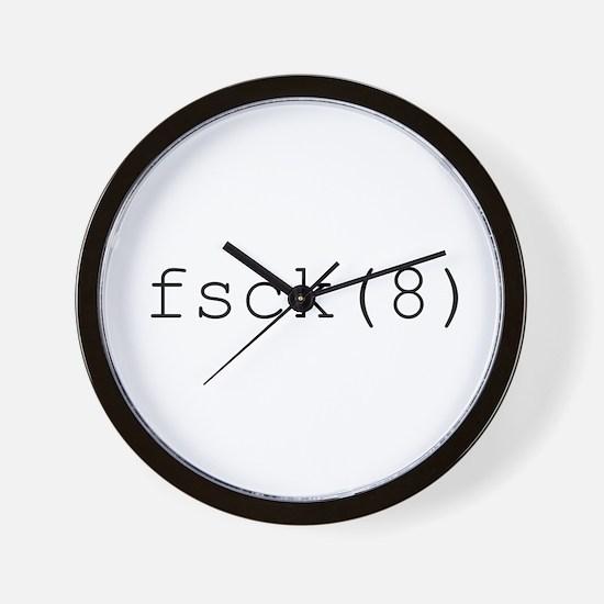 fsck(8) Wall Clock