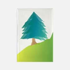Tree on Slope Rectangle Magnet