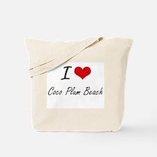 I love Coco Plum Beach Florida artistic Tote Bag