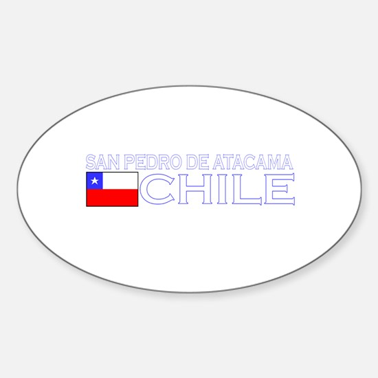 San Pedro de Atacama, Chile Oval Decal