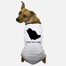 Saudi Arabia Silhouette (Custom) Dog T-Shirt