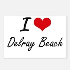 I love Delray Beach Flori Postcards (Package of 8)