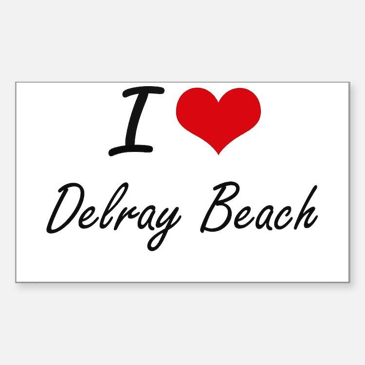 I love Delray Beach Florida artistic desi Decal