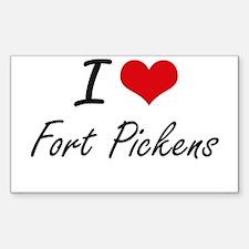 I love Fort Pickens Florida artistic desi Decal