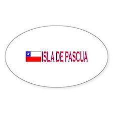 Isla de Pascua, Chile Oval Decal