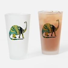 Cute Brontosaurus Drinking Glass