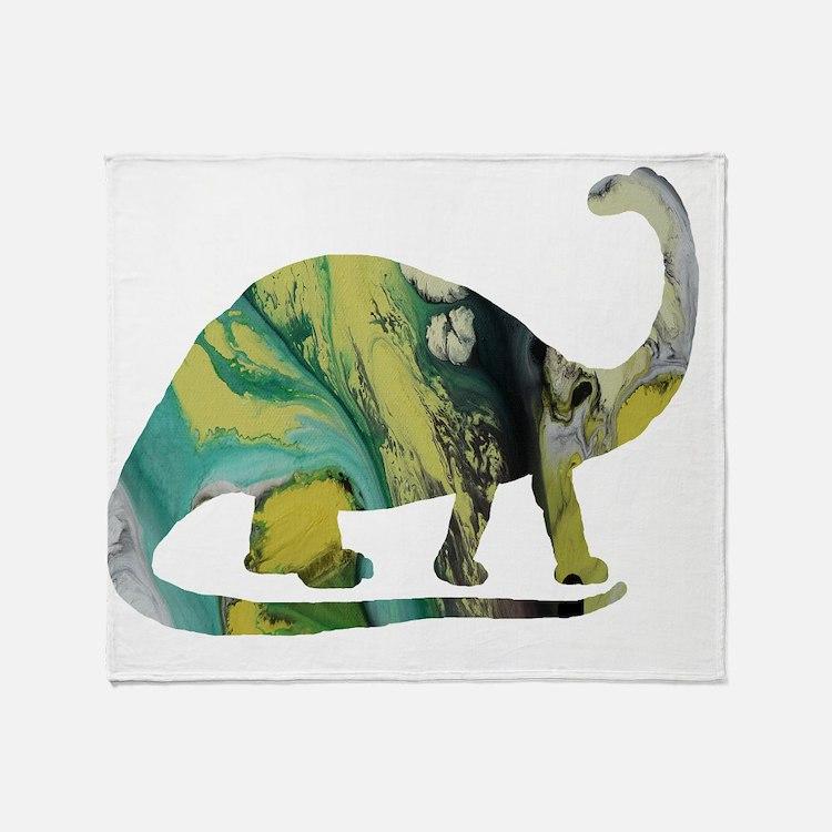 Cute Brontosaurus Throw Blanket