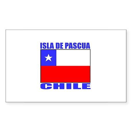 Isla de Pascua, Chile Rectangle Sticker