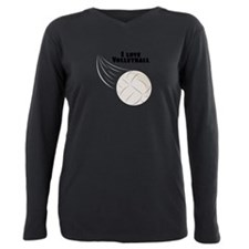 I Love Volleyball Plus Size Long Sleeve Tee