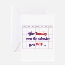 Calendar quote Greeting Cards