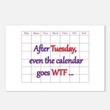 Calendar quote Postcards (Package of 8)