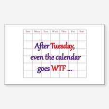 Calendar quote Decal