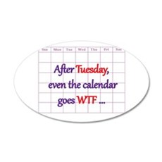 Calendar quote Wall Sticker