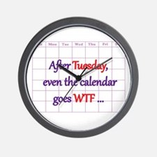 Calendar quote Wall Clock