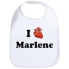 I (Heart) Marlene Bib
