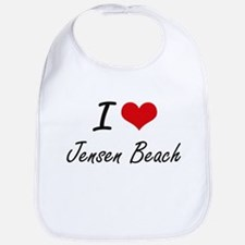 I love Jensen Beach Florida artistic design Bib