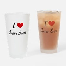 I love Jensen Beach Florida artist Drinking Glass