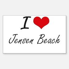 I love Jensen Beach Florida artistic desi Decal