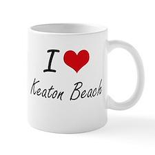 I love Keaton Beach Florida artistic design Mugs