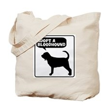Adopt a Bloodhound Tote Bag