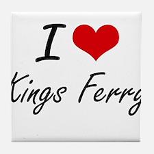 I love Kings Ferry Georgia artistic Tile Coaster